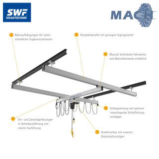 Aluminium Leichtsystem 8 x 5 m, 250 kg