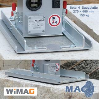 Saugplatte 150 kg für WIMAG Beta, 460 x 275 mm
