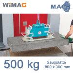 500 kg Saugplatte für WIMAG Gamma 800 x 360 mm