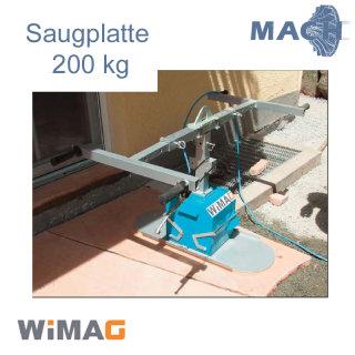 200 kg Saugplatte für WIMAG Turbo-M  840 x 330 mm