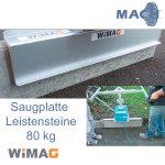 80 kg Leistenstein Saugplatte für WIMAG Turbo-M