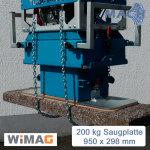 200 kg schmale Saugplatte für Turbo-H