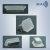 Rechteckiger Sauger vulkanisiert auf Metallträger