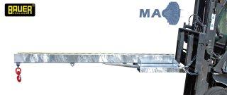 Lastarm 2500 kg, LA 2400-2,5 verzinkt