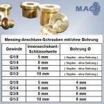 Messing-Anschluss-Schrauben