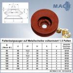 Faltenbalgsauger auf Metallscheibe vulkanisiert 1,5 Falten