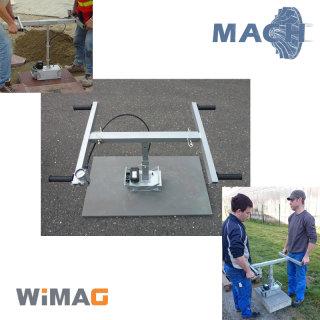 Vakuum-Steinheber WIMAG Beta bis 100 kg 2-Mann-Träger, Akku-Version