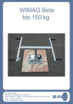 Vakuum-Steinheber WIMAG Beta bis 100 kg, Akku-Version